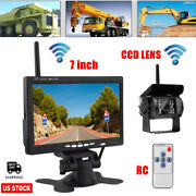 7 Monitor +wireless Ir Rear View Backup Camera Night Vision System For Rv Truck