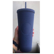 Starbucks Studded Tumbler Matte Navy Thailand Rare Limited Collectible 24 Oz