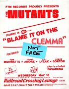 The Mutants May 16 1979 Railroad Crossing Lounge Detroit Punk Rock And Roll Flyer
