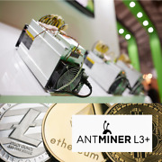 Bitmain Antminer L3+ Litecoin Crypto Miner With Power Supply Quik Shipping