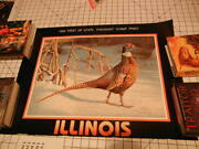 1990 Illinois First Of State Pheasant Stamp Print By Ronald J Louque. Signed