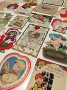 Lot Antique Valentine's Day, Easter, Christmas, Holiday Cards Postcards