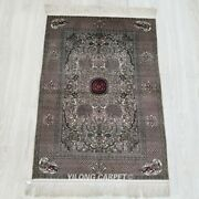Yilong 2and039x3and039 500lines Medallion Tapestry Silk Carpet High Density Area Rug 318h
