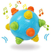 Toddlers Baby Music Shake Dancing Ball Toy Move And Crawl Ball Toys For Kids