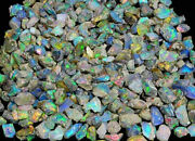 Ethiopian Opal Rough Lot Amazing Fire Of Flash 100 Natural Gemstones 200cts