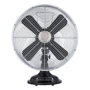Better Homes And Gardens 12'' Retro 3-speed Metal Table Fan Black Fully Assembled