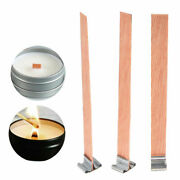 40pcs Diy Wooden Candle Wicks Core Sustainer For Candles Making Supplies Kit Tab