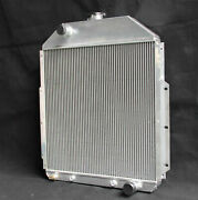 Aluminum Radiator For 1942-1952 Ford Truck Chevy F1 F2 3rows 52mm At 4252 V6 V8