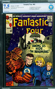Fantastic Four 45-cbcs 7.5-first Inhumans-key Marvel Issue