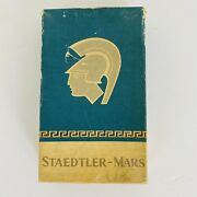 Vtg Staedtler-mars Lumograph Drawing Pencil Leads 4h New In Display Box 6 Boxes