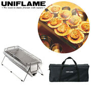Uniflame Table Top Charcoal Andceramic Grill Unicera Long Burner Camp New F/s