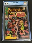 Fantastic Four 66 Cgc 5.5 1967 Ow-wh Pages Warlock Him Origin Issue Marvel Comic