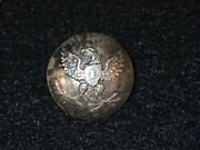 1821 - 1826 Us Federal Army Convex Eagle I Infantry Coat Button Silver Plated K