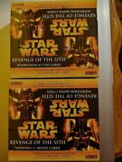 2005 Star Wars Revenge Of The Sith Widevision Sealed Retail 2 Box Card Lot Topps
