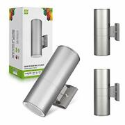 2 Pack Outdoor Light Fixture Wall Mount 2-directions Up Down Cylinder Light -