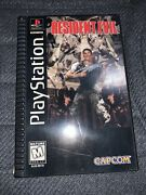 Resident Evil 1 Ps1 Playstation 1 Long Box Complete With Registration Card Nm