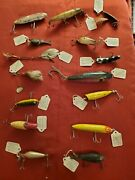 Large Lot Of Fishing Lures Vintage Collectables