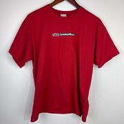 Vintage 2000s Nike Basketball Embroidery Red T Shirt Size L Universal Records