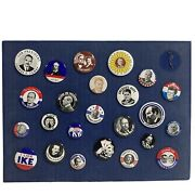 24 Political Buttons President Collection Pin Back Coolidge Kennedy Nixon Truman