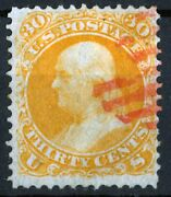Us Stamp Sc.1101875 30c Benjamin Franklinbrow. Orange Re-issue Without Grill