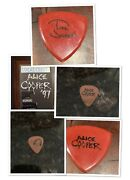 Alice Cooper '97 Backstage Pass And Stage Used Reb Beach / Todd Jensen Guitar Pick