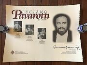 Luciano Pavarotti 3 Tenors 1997 Tour Concert Autographed / Signed Poster Litho