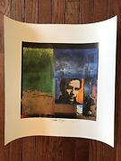 Jackson Browne World In Motion Autographed / Signed Cd Album Lithograph Poster