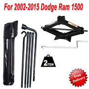 For Dodge Ram 1500 2002-2015 Spare Tire Car Jack Lug Wrench Lever Tool Kit Set