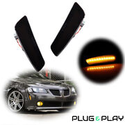 2pcs Smoked Front Bumper Side Marker Led Lights Lamps For 2008-2009 Pontiac G8