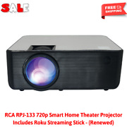 Rpj-133 720p Smart Home Theater Projector Includes Roku Streaming Stick