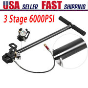 3 Stage 6000psi High Pressure Pcp Hand Operated Air Pump Inflator Portable