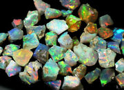 Magnifncet Flashy 100 Natural Fire Ethiopian Opal Rough Loose Gemstones 1000cts