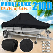 17'-25' Waterproof Boat Cover Marine Grade 210d Fits V-hull Center Console Boat