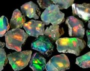 Nice Crystal Ethiopian Opal Rough Lot 100 Natural Untreated Gemstones 500cts