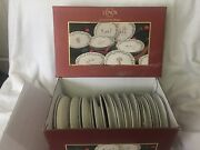 Lenox Holiday 12 Days Of Christmas Dessert Plates Complete Set In Box Unused