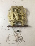 Rare 8 Day Time Strike And Alarm Weight Driven Shelf Clock Movement Parts J Frost