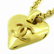 Necklace Heart Cocomark Gold Metal Material Previously Owned No.568