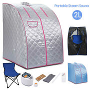2l Portable Steam Sauna Home Spa Tent For Weight Loss And Detox Therapy With Chair