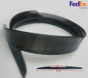 99cm Pu Glossy Carbon Fiber Looking Car Rear Roof Lip Spoiler Tail Wing Sticker
