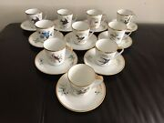 Vintage Tea Cups And Saucers Sets For Bird Lovers