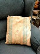 Antique Victorian Floral Feather Pillow Chic Shabby Damask