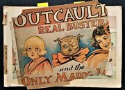 1909 Antique Outcault's Real Buster Brown Mary Jane Comic Book Xmas Halloweem