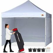 Commercial 10x10 Sidewall Pop-up Canopy Tent White