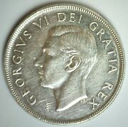 1952 Canada Silver Dollar 1 Canadian Coin Extra Fine Circulated George Vi Ruler