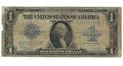1923 Silver Certificate Horse Blanket Paper Money One Dollar Large Currency 1