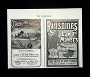 Greens Ransomes Lawn Mowers History - 1911 Antique Original Advert Cutting F107