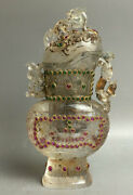 Old China White Coloured Glaze Gem Dynasty Palace Pixiu Beast Lid Drinking Cup