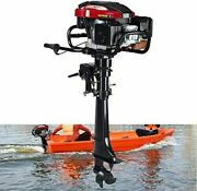 4stroke 7hp Outboard Motor Fishing Boat Engine Air Cooling Tiller Control Usa