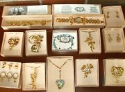 Lot Of Kirks Folly Brooches/pins+3 Rings+1 Watch+3 Necklace+bracelet+earrings