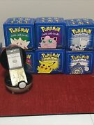 1999 Pokemon Burger King Set Of 6 23k Gold Plated Character Cards In Pokeball